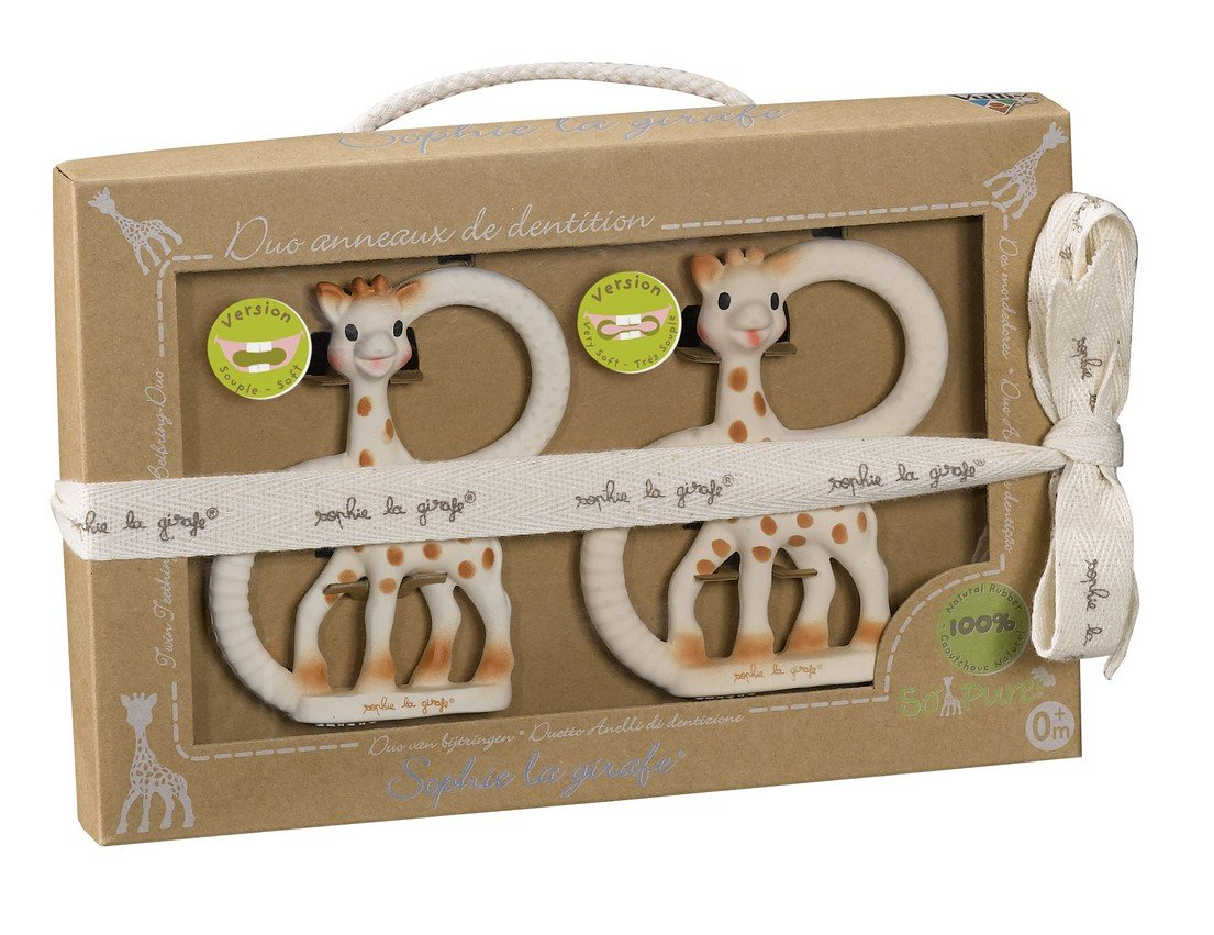 Vulli So'Pure Teether Duet, Sophie The Giraffe by Vulli
