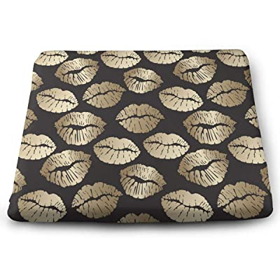Sanghing Customized Goldn Lips 1.18 X 15 X 13.7 in Cushion, Suitable for Home Office Dining Chair Cushion, Indoor and Outdoor Cushion.: Home & Kitchen