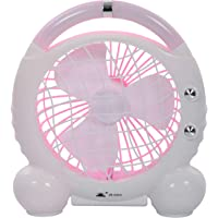Diswa Portable Rechargeable Mini Table Fans For Home, Office And Desktop Etc (Pink)