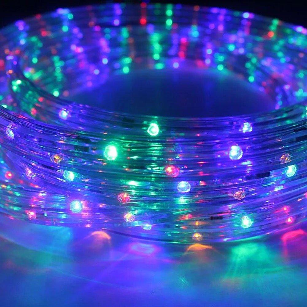 Innen 20m 480 LED Lichterschlauch Lichtschlauch Bunt und Au/ßenbereich energiesparende Leucht-Dekoration f/ür Garten Fest Weihnachten Hochzeit