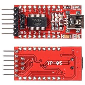 XCSOURCE® FT232RL 3 3V 5 5V FTDI USB to TTL Serial Adapter Module for  Arduino Mini Port TE203