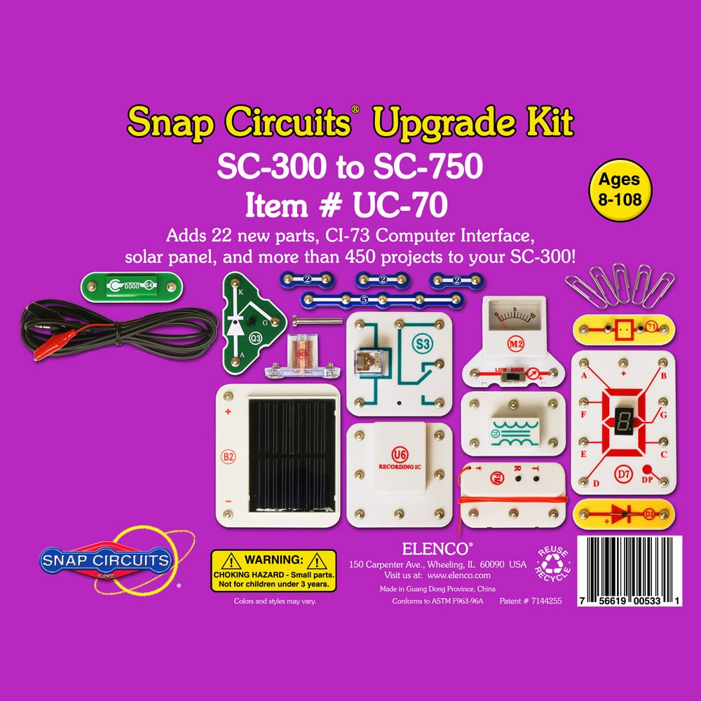 Snap Circuits Uc 70 Upgrade Kit Sc 300 To 750 Toys Parts Games