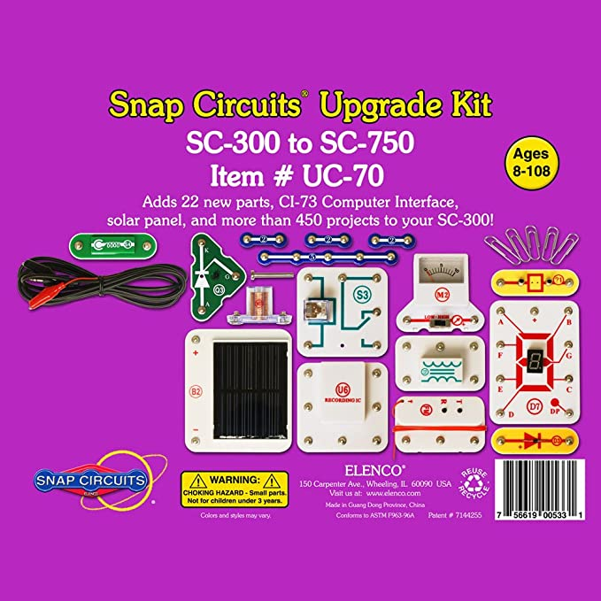 snap circuits uc 70 upgrade kit sc 300 to sc 750 rh amazon com