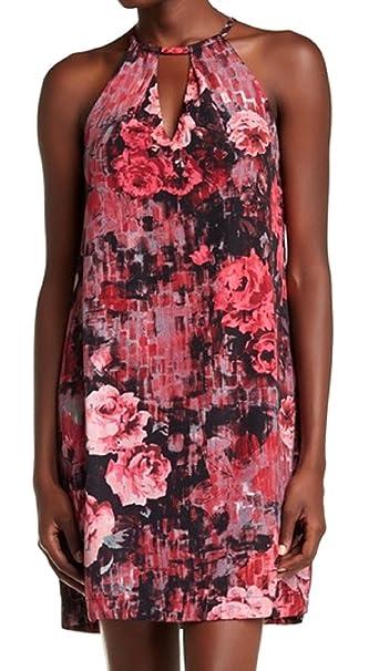 Amazon.com: ECI Nueva York Halter Floral Woven Trapecio ...