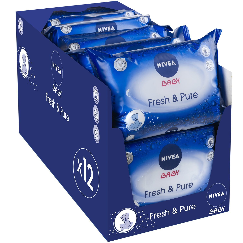 Nivea Baby Pure et Fresh 63 Lingettes - lot de 12