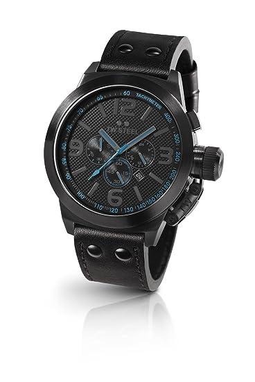 TW Steel TW-904 - Reloj cronógrafo de cuarzo para mujer con correa de piel, color negro: Amazon.es: Relojes