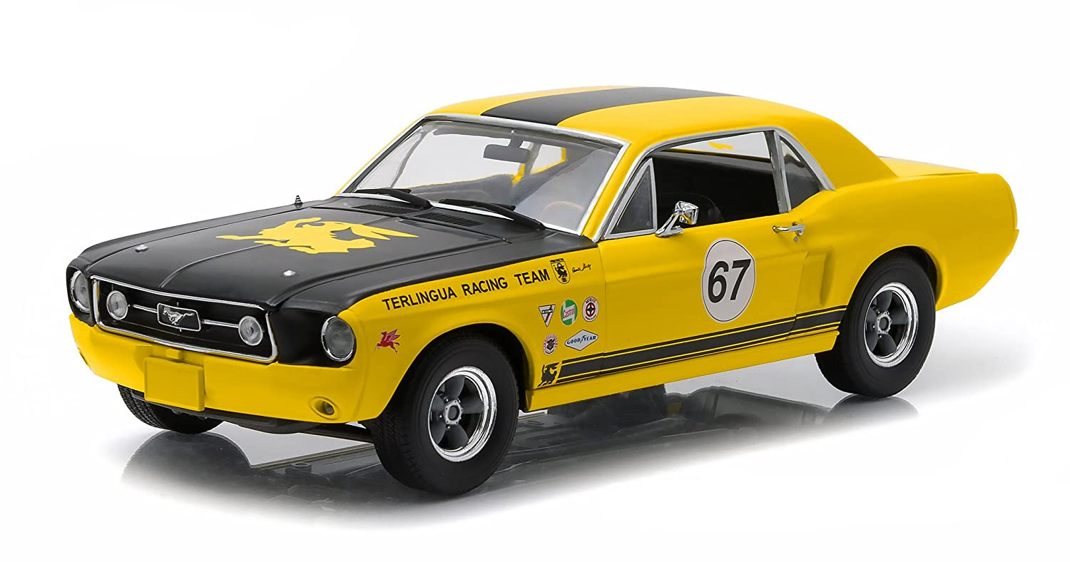 1967年フォードTerlingua Continuation Mustang # 67 Jerry Titus &ケンマイルRacing Tribute Edition 1 / 18 by Greenlight 12934 B018F23ZL0
