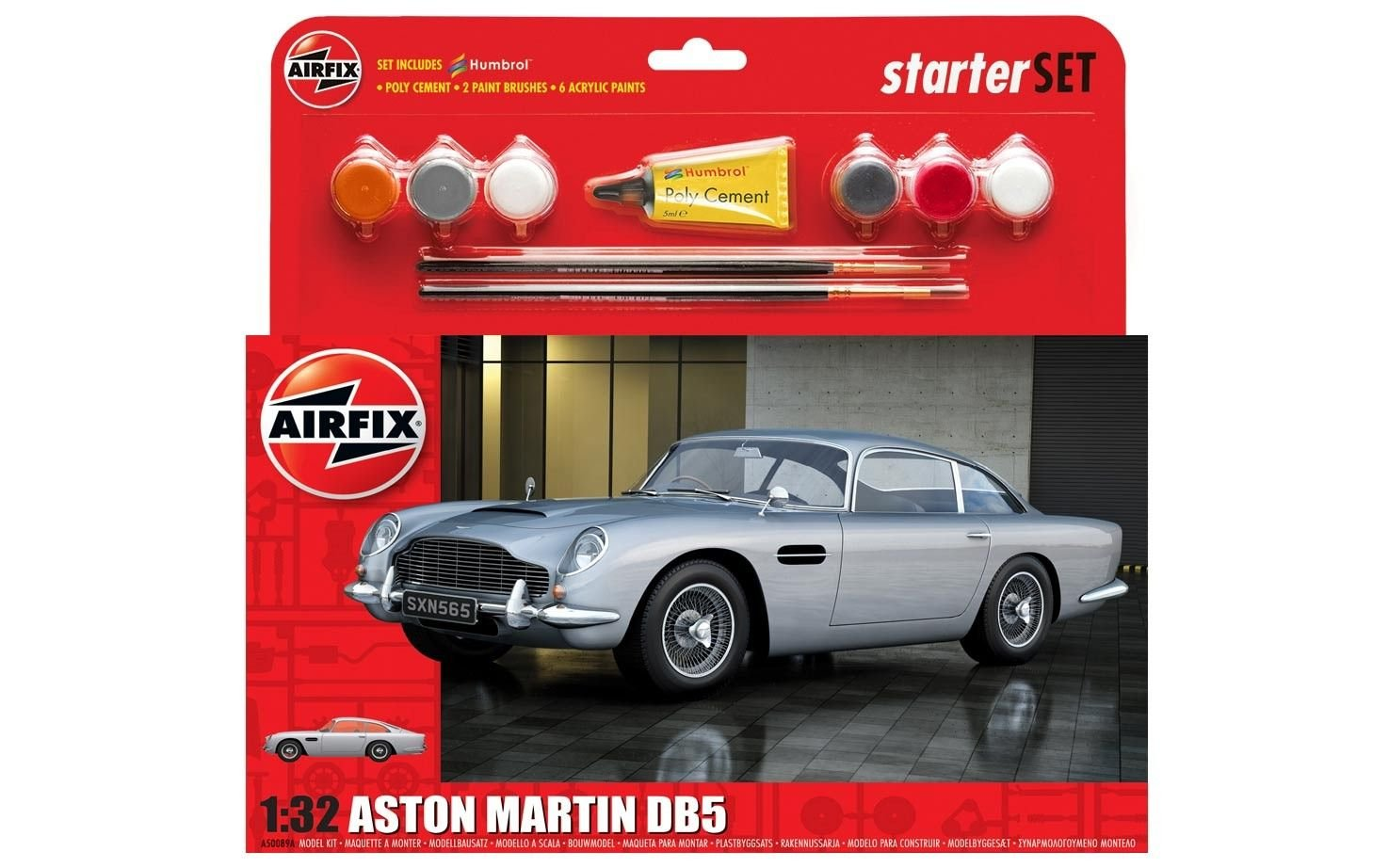 Airfix A50089a Aston Martin Db5 Starter Set Model Hornby Amazonco Tvr Remote Toys Games