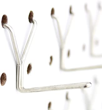 Stainless Steel Pegboard Hooks 50 Pack 1 L Hook Will Not Fall Out Fits Any Peg Board Organize Tools Accessories Workbench Garage Storage Kitchen Craft Or Hobby Supplies Jewelry Retail