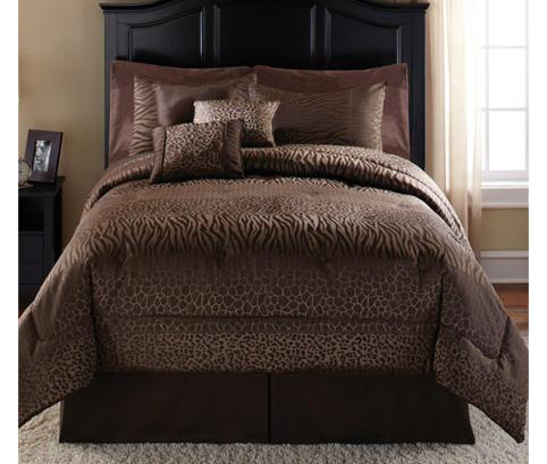Mainstays Safari 7-Piece Bedding Comforter Set