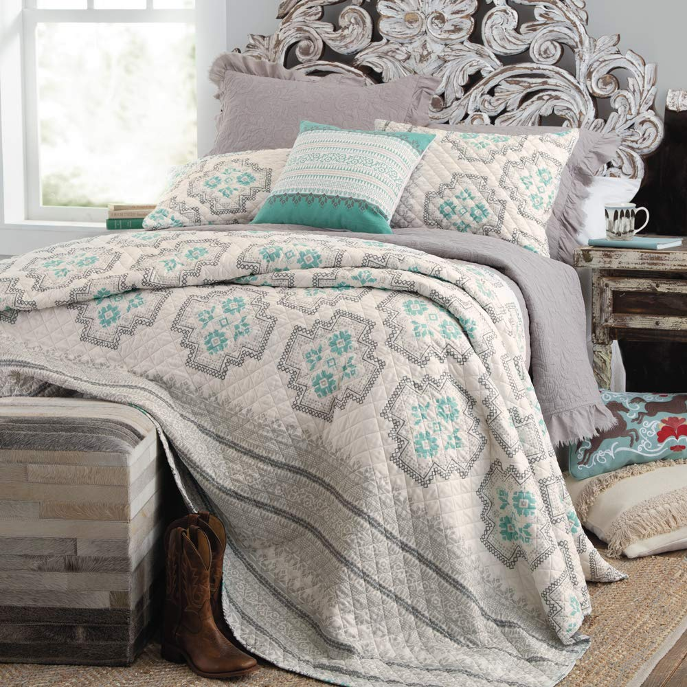 Rod's Southwestern King 3 Piece Quilted Bedding Set