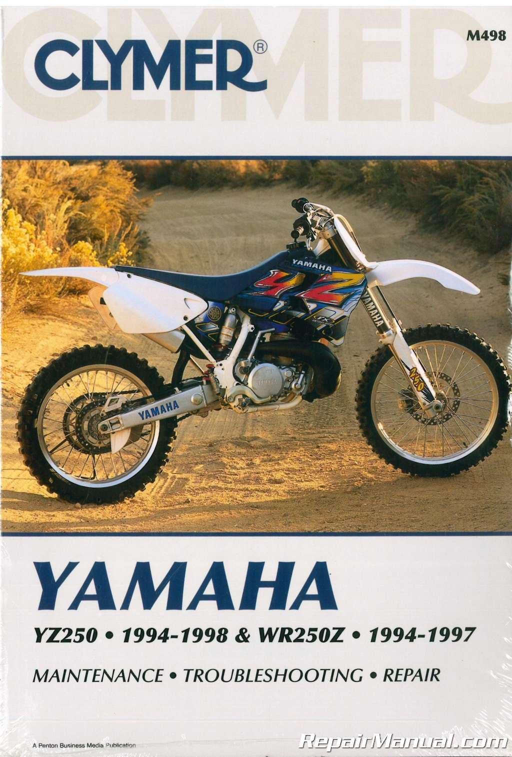 M498 Clymer Yamaha YZ250 1994-1998 WR250Z 1994-1997 Motorcycle Repair Manual:  Manufacturer