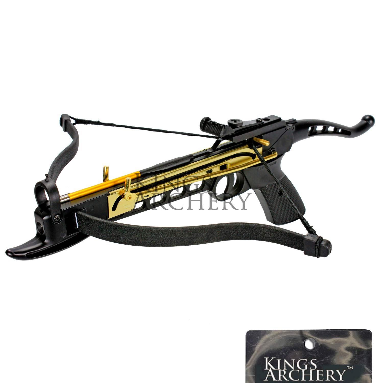 KingsArchery Crossbow Self-Cocking 80 LBS Adjustable Sights, 3 Aluminium Arrow Bolts, Spare Crossbow String Caps Bonus 120-pack Colored PVC Arrow Bolts Warranty by KingsArchery (Image #2)