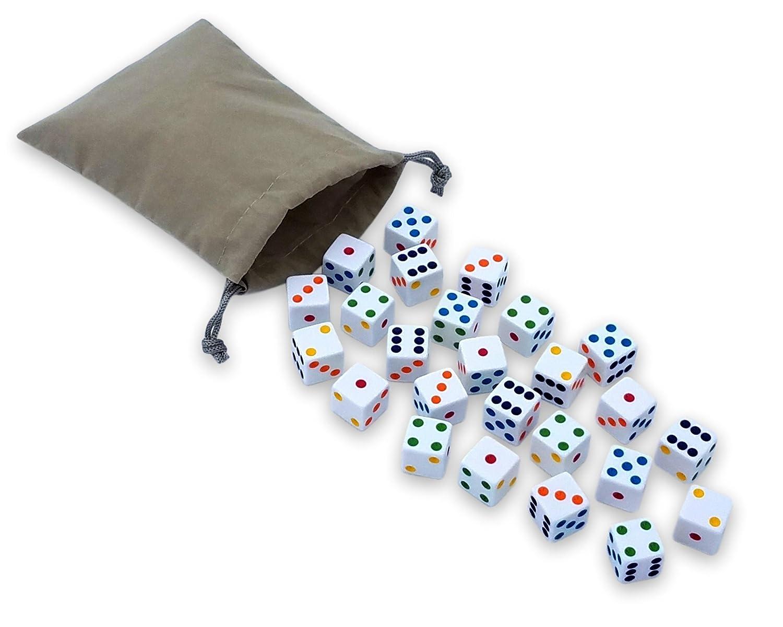 正規通販 AmishToyBox.com Pouch Bag of 25 Game in Dice, 16mm Playing Dice of in Carry Pouch B06X9B5MY5, WILD KIDS:546dba31 --- mcrisartesanato.com.br