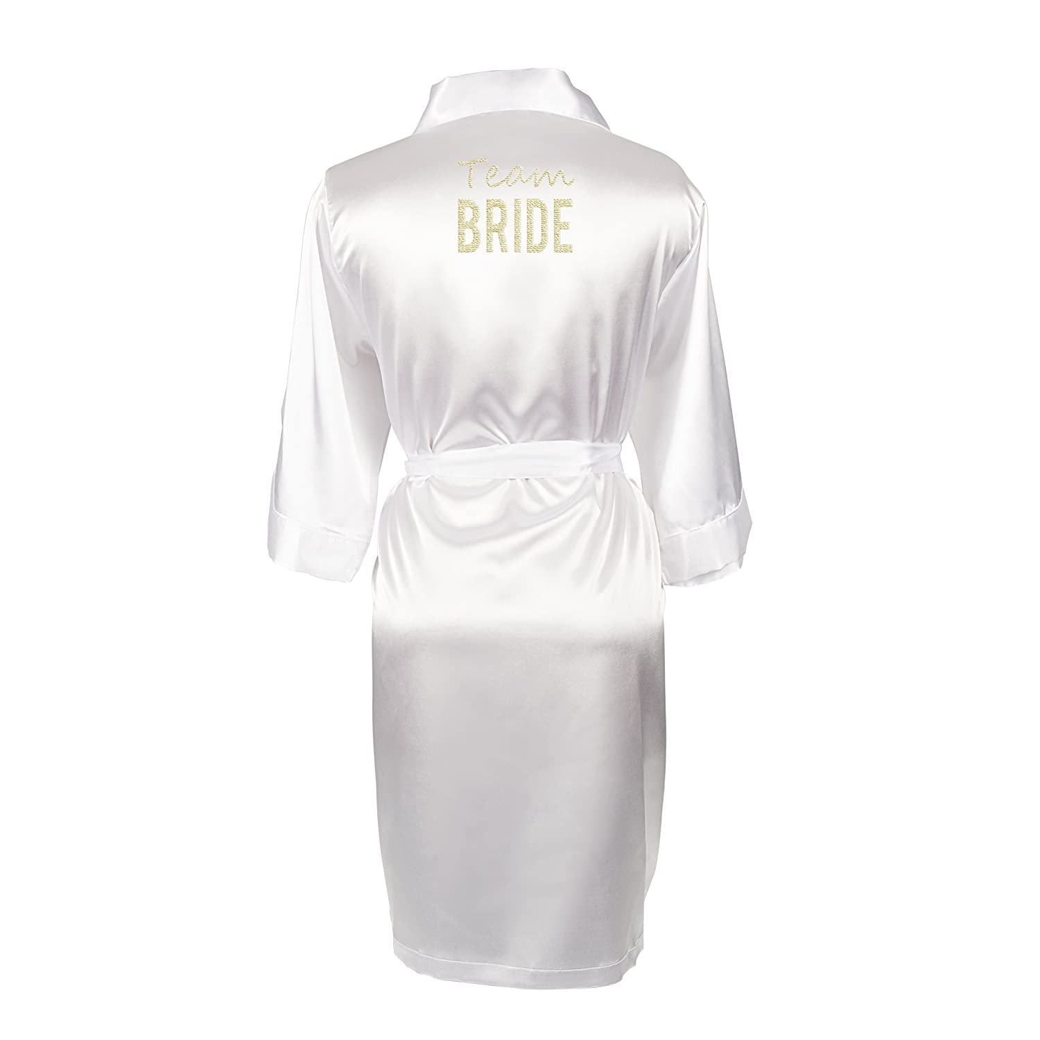 classic chic great variety models on sale Amazon.com: Cathy's Concepts Team Bride White Satin Robe ...