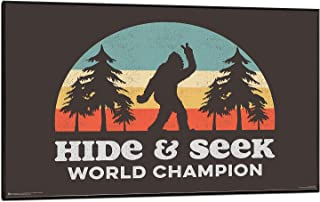 product image for Frame USA Bigfoot Hide & Seek Poster (Black Wood Mount Plaque)(24x36)