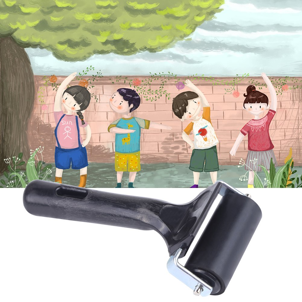 Soft Rubber Brayer Suitable for Kids Painting Ideal for Anti Skid Tape Construction Tools Print Ink and Stamping Tools Rubber Brayer Roller