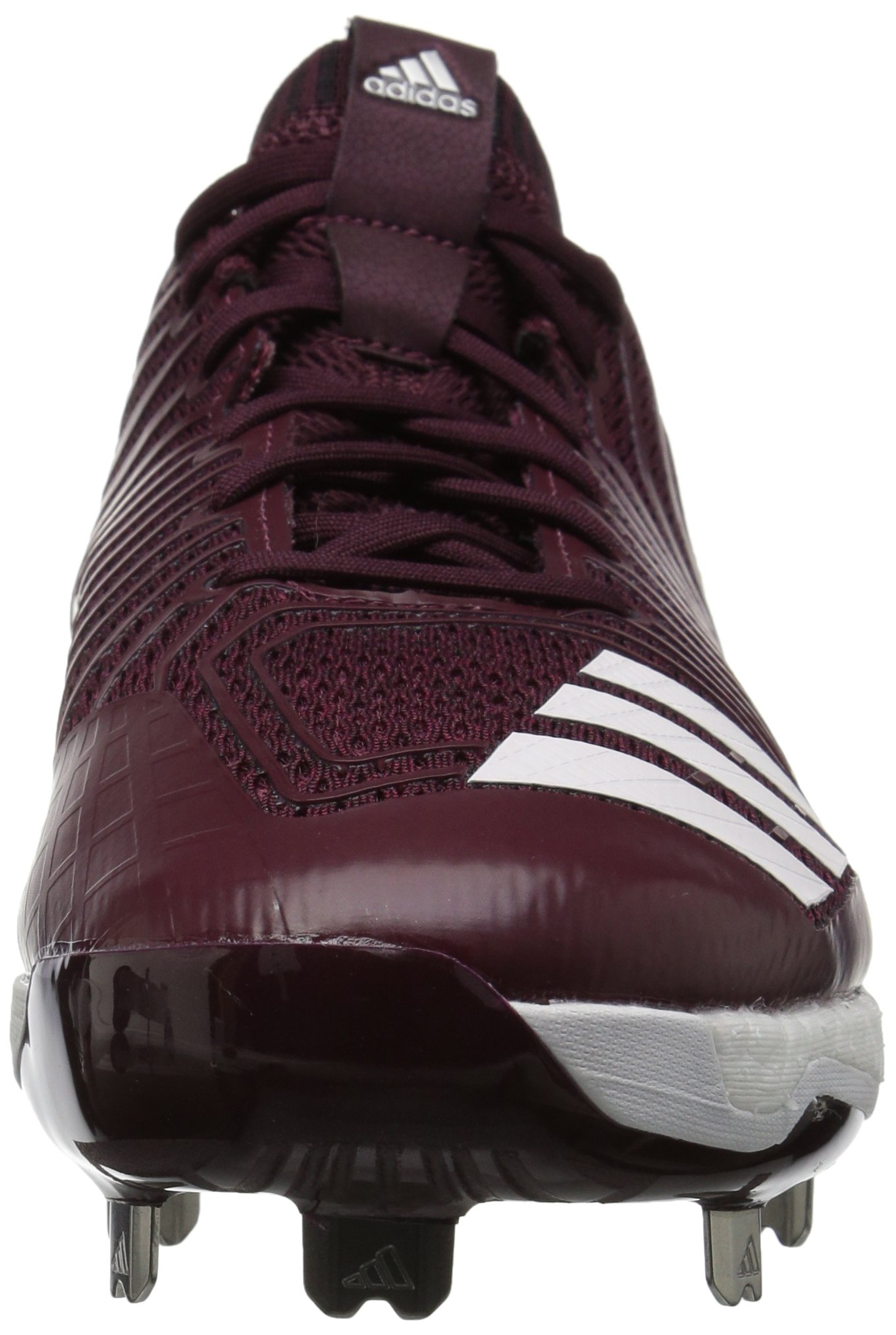 adidas Men's Freak X Carbon Mid Baseball Shoe, Maroon/White/Metallic Silver, 7.5 Medium US by adidas (Image #4)
