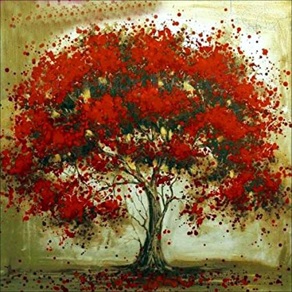 Amazon Com Red Tree Diamond Painting Kit Pigboss 5d Full Drill