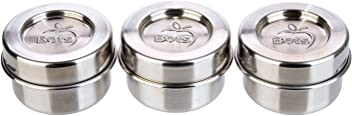 LunchBots Tiny Leak Proof Dips Condiment Containers, Set of 3 (1.5 oz) - Mini Condiment Cups Provide Perfect Portions – Spill Proof in Lunch Bags and Boxes - Premium Stainless Steel, Dishwasher Safe