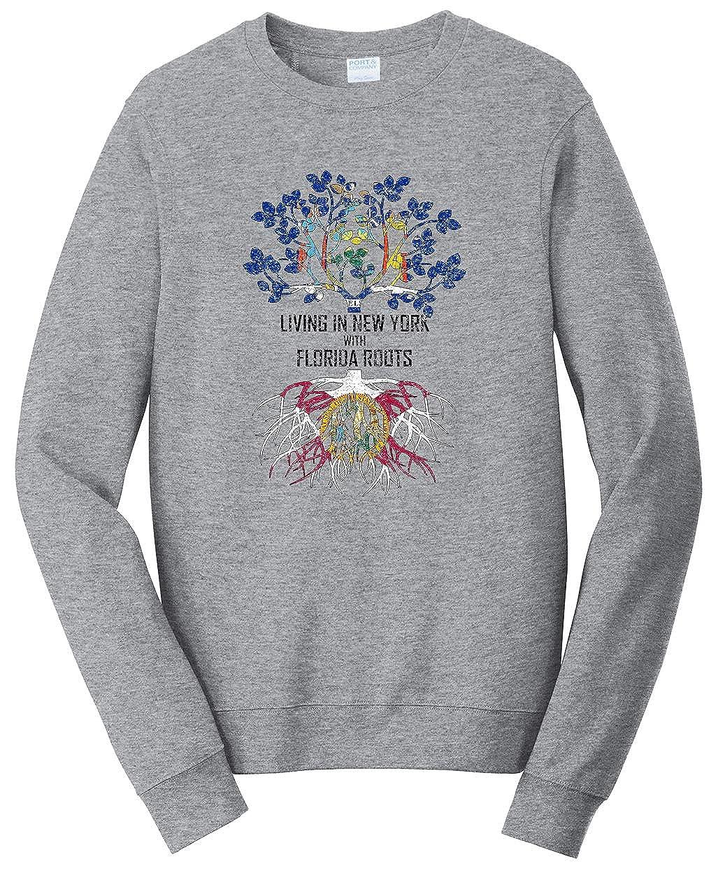 Tenacitee Unisex Living in York Florida Roots Sweatshirt