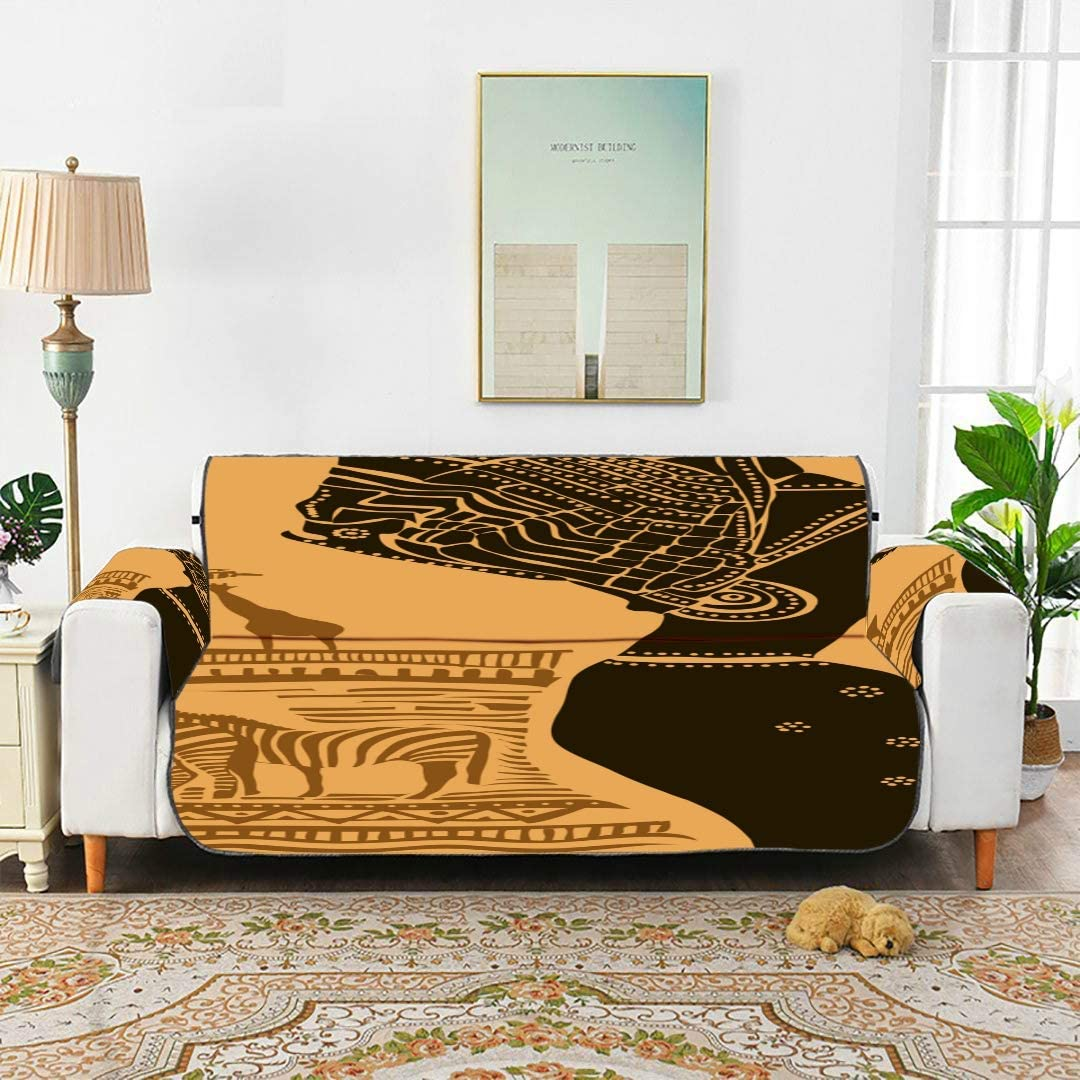 YSWPNA African Woman Tribal Ethnic Sofa Seat Covers Slipcover Chair Stretch Stretch Furniture Slipcover for 45