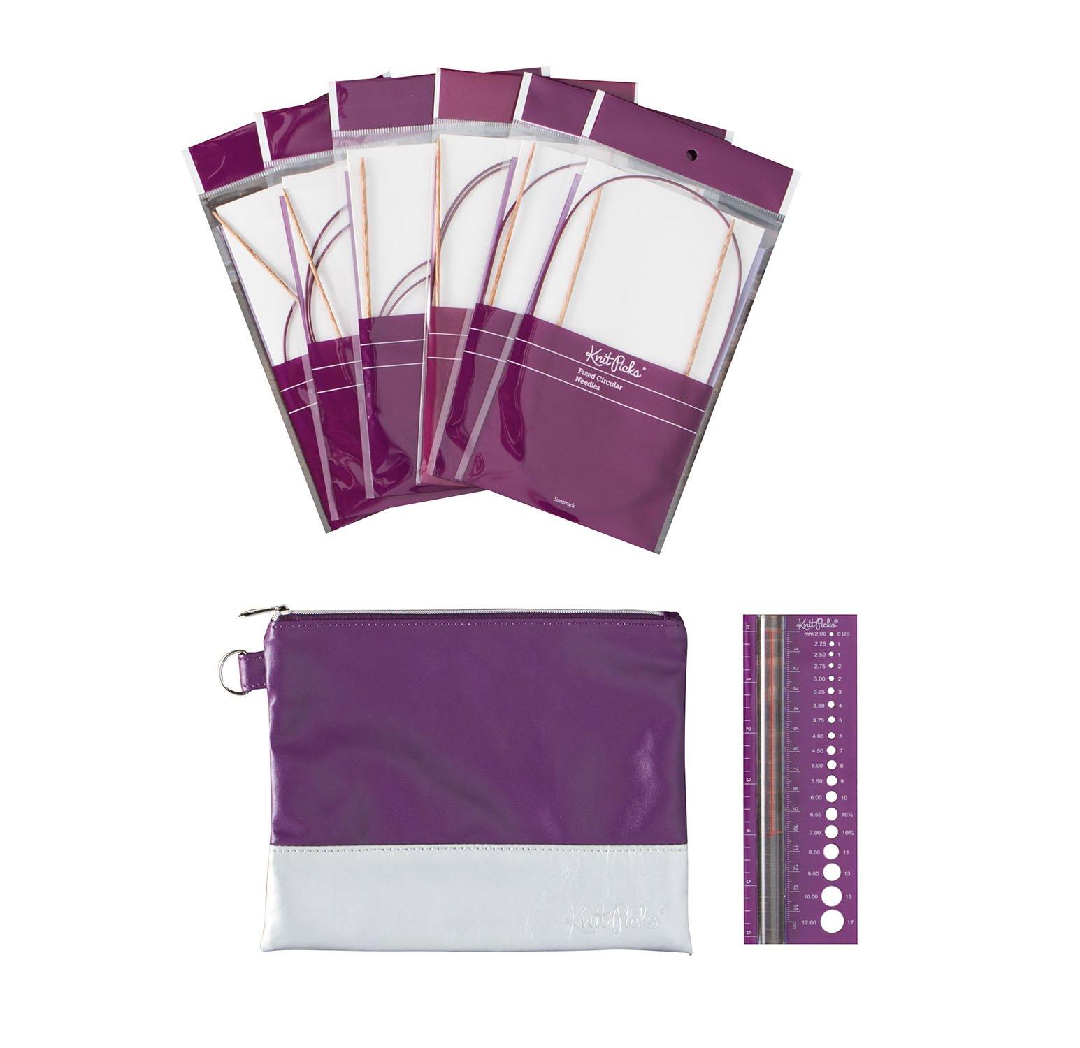 Knit Picks Fixed Circular Sock Knitting Needle Set (Sunstruck)