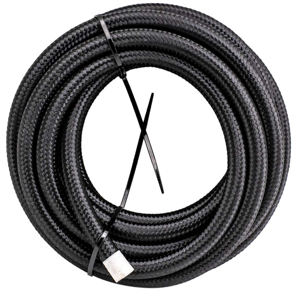 AN6-6AN 20FT Nylon Stainless Steel Braided Fuel Hose 20 feet+AN6 Push Lock Hose End 10pcs by Tuningsworld (Image #6)
