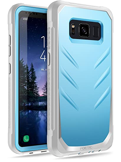 info for 09e51 7a1e3 Galaxy S8 Active Case, Poetic Revolution [360 Degree Protection] Full-Body  Rugged Heavy Duty Case with [Built-in-Screen Protector] for Samsung Galaxy  ...