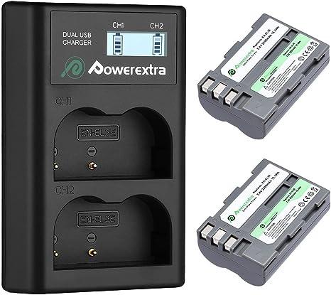 Amazon.com: EN-EL3E Powerextra - Batería y cargador para ...