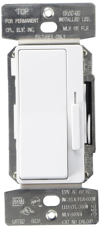 Amazon.com: Eaton DAL06P-C5 Al Series Single Pole/3-Way Decorator ...