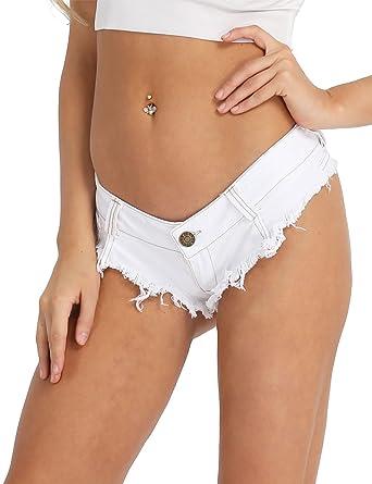 Freebily Vintage Femme Shorts Jeans Taille Haute Pantalon Shorts Court  Demin Hot Pants Casual Bermuda Short 2912fda0400