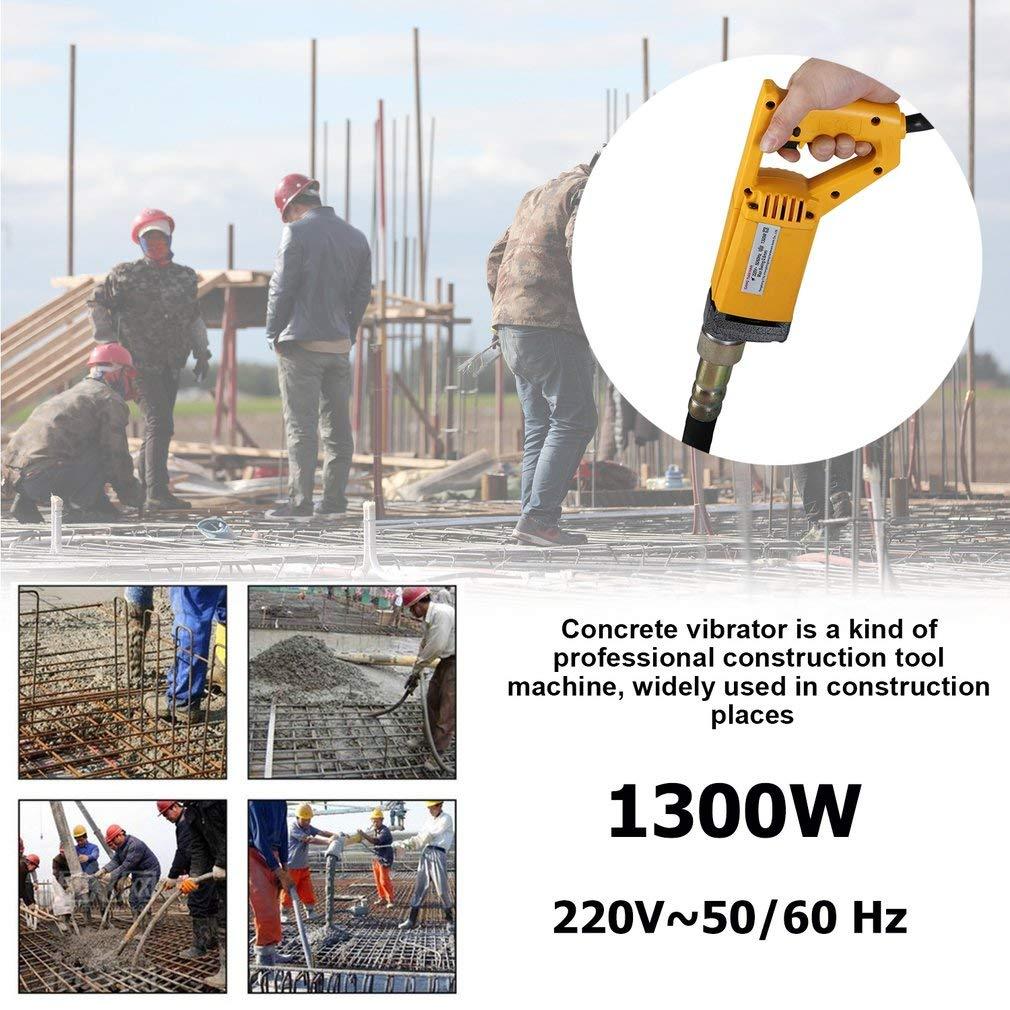 OLAS Mini Betonr/üttler Betonverdichter Handr/üttler mit 2 m langen R/üttelflasche /Ø 35 mm zum Verdichten von Frischbeton 1300W Gelb