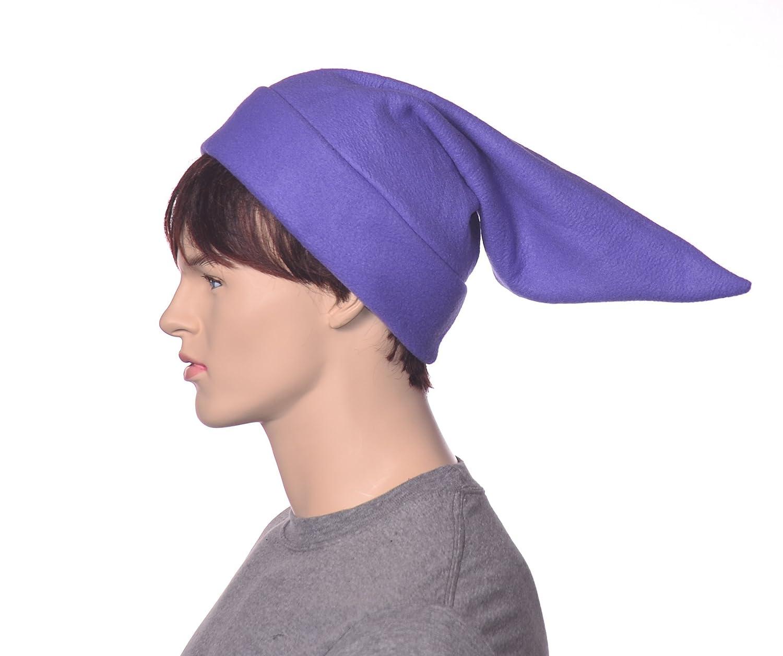 Lillac Purple Elf Hat Fleece Pointed Dwarf Cap Cosplay Point Hat