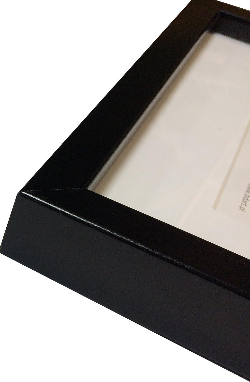 Amazon.de: 13 x 18 cm Bilderrahmen mit Passepartout 10 x 15 cm, Schwarz