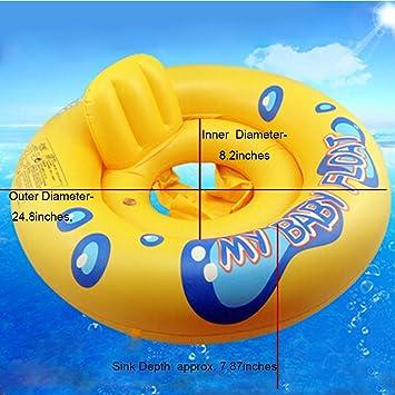 Flotador inflable de la piscina del bebé, niño pequeño anillo de la natación Flotadores de