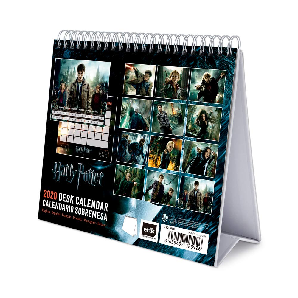Erik Harry Potter, Calendario de Escritorio, Talla Única, Multicolor