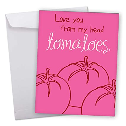 Amazon j3520vdg jumbo humor valentines day greeting card j3520vdg jumbo humor valentines day greeting card from my head tomatoes with envelope m4hsunfo