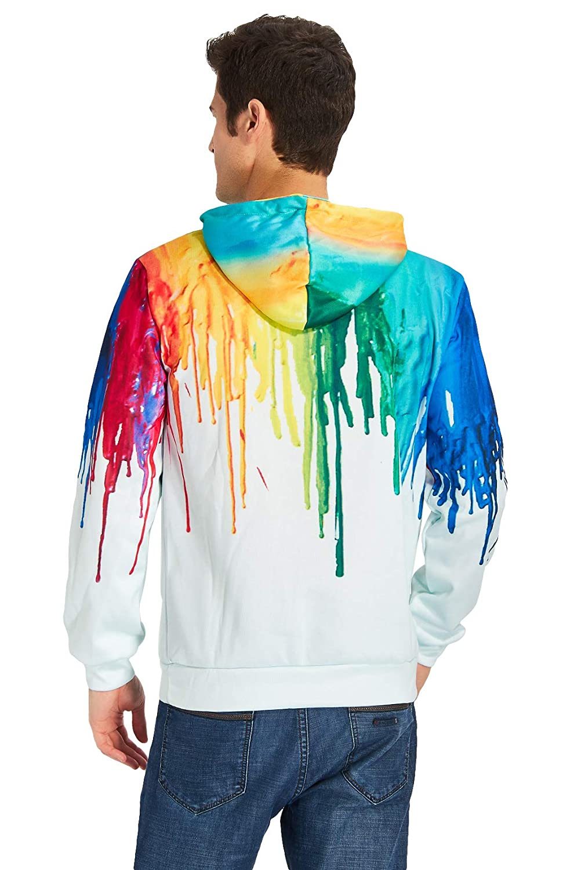 Loveternal Unisex 3D Graphic Printed Fleece Liner Novelty Funny Pullover Hoodie Sweatshirt for Women Men