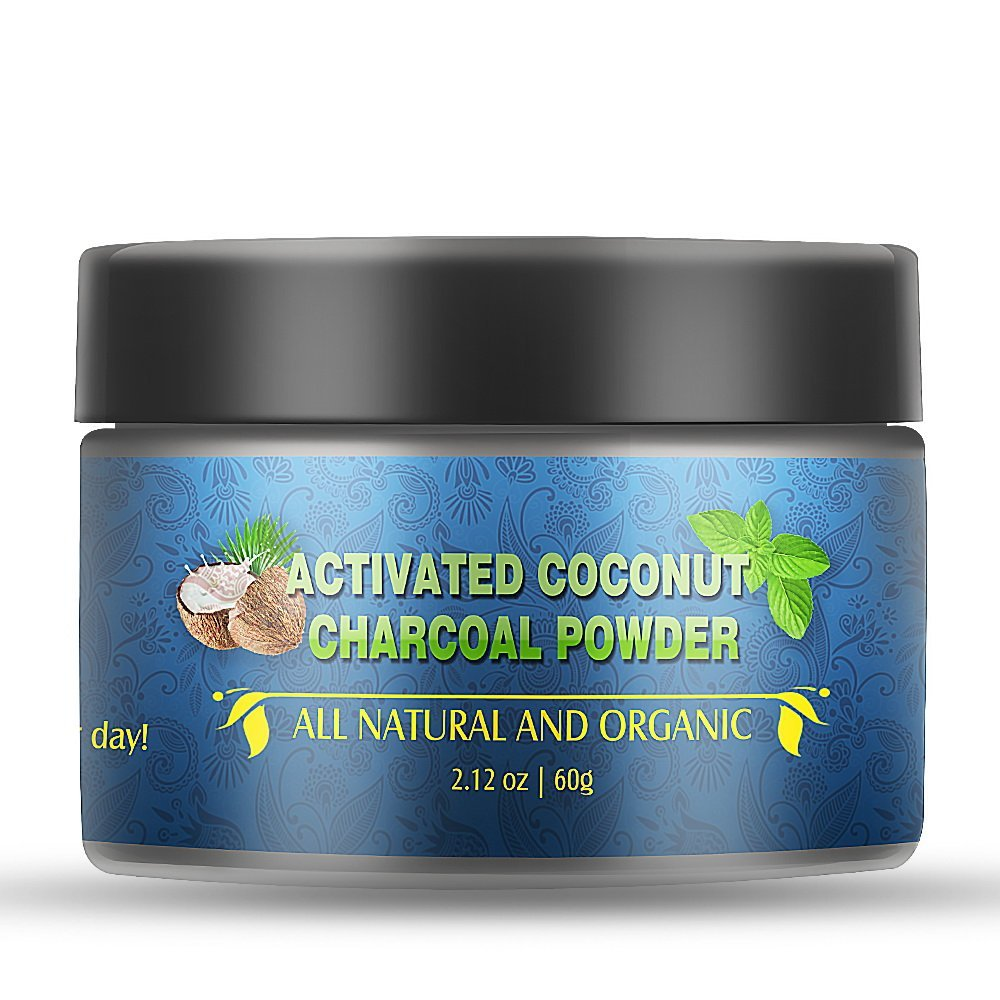 Terresa Activated Charcoal Whitening Powder - Natural Coconut Shell Remove Tooth Stains, Refresh Breath, Fluoride Free, Mint Flavor Teeth Toothpaste for Kids, Women & Men (2.12 oz)