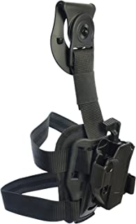 Orpaz Glock Drop-Leg Thigh Holster Level 2 Thumb Release 360 Rotation & Tension Adjustment Polymer Tactical Holster Orpaz Defense