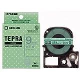 キングジム テープカートリッジ テプラPRO 9mm SWM9GH 水玉緑 グレー文字