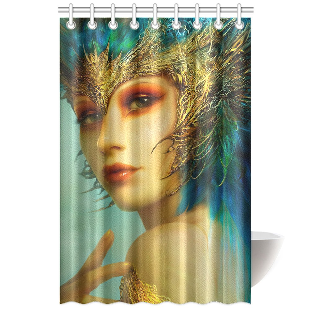 CTIGERS Fashion Shower Curtain Online Games Role Cool Beautiful Woman Polyester Fabric Bathroom Decoration 48 x 72 Inch