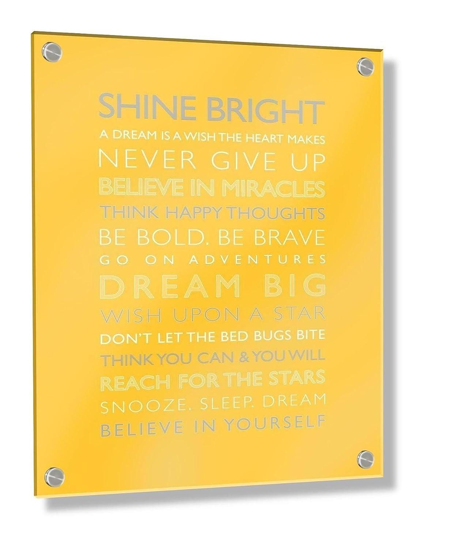 Feel Good Art Framed Box Canvas with Solid Natural Wooden Surround - Dream Big - Pink (44 x 34 x 4 cm) Little Helper Ltd BC-DRBG1624-ACRYLIC-13NV