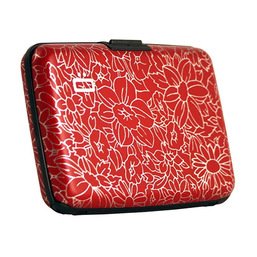 450903f36660 Ogon RFID Aluminum Small Smooth Wallet (Flowers)