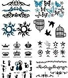 NOVAGO 8 mini planches de tatouages éphémères (105 x 60 mm) , motifs variés