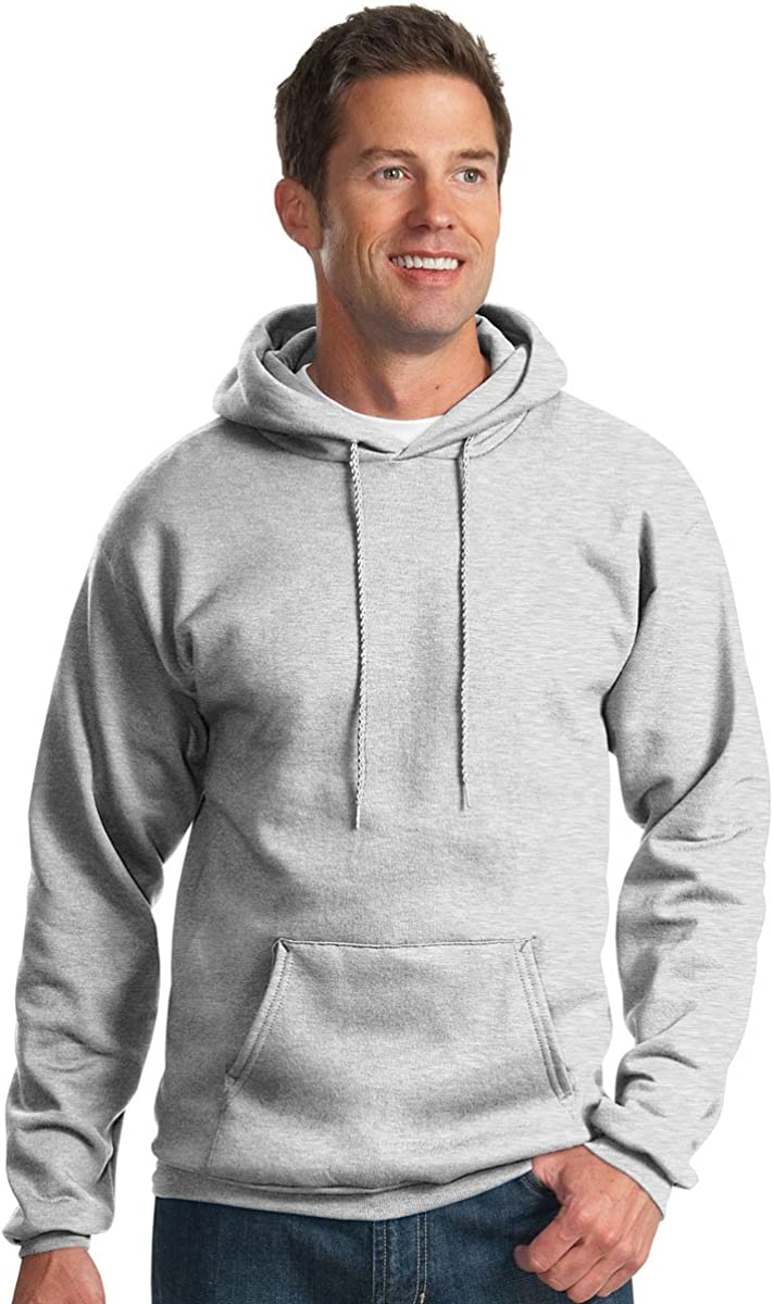Port /& Company Mens Hooded Fleece Sweatshirt,XXX-Large,Ash