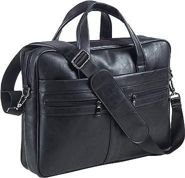 Business Men Leather Handbag Briefcase Shoulder Messenger Bag Laptop Satchel