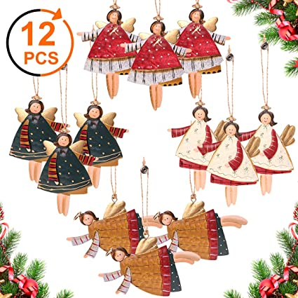 2018 Santa Christmas Tree Christmas Pendant Cute Wood Sleigh Pendant Gift Home Hanging Decorations Drop Ornaments #25 Diamond