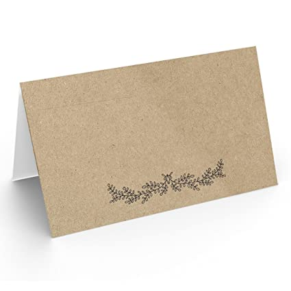 25 Table Place Cards Kraft Perfect For Weddings